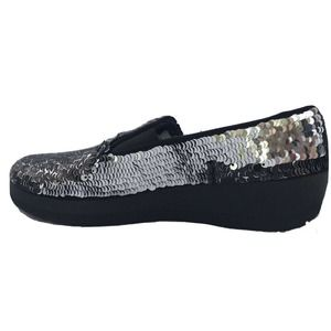FitFlop Girls Superskate Sequin Shoes Size 5